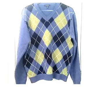 Club Room  M lambswool Argyle sweater C029SW